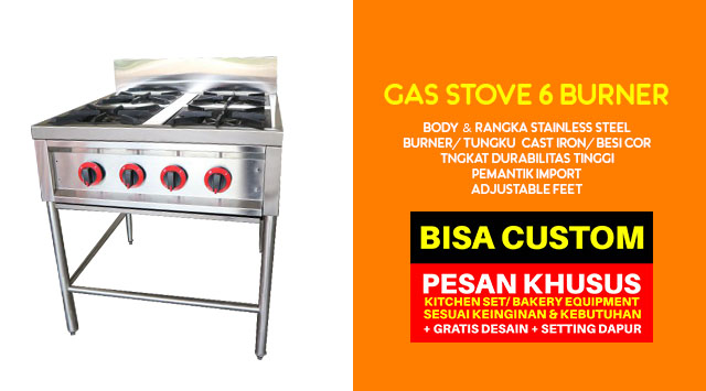Harga gas stove burner (Stainless steel & Cast Iron)