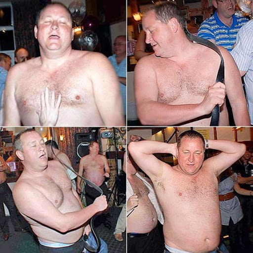 Newcastle owner do striptease in restaurant