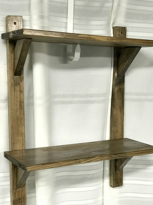 Bathroom shelves made from Broken Furniture Wood