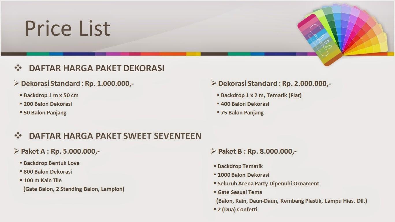 paket dekorasi sweet 17 seventeen, Dekorasi sweet 17, paket sweet 17