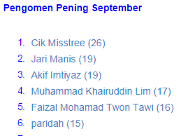 Pengomen Pening September