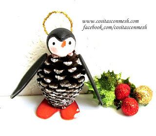 pinguino-navideño-piñas