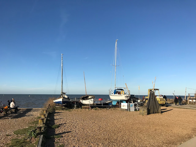 Boats on the beach, Whitstable, Kent