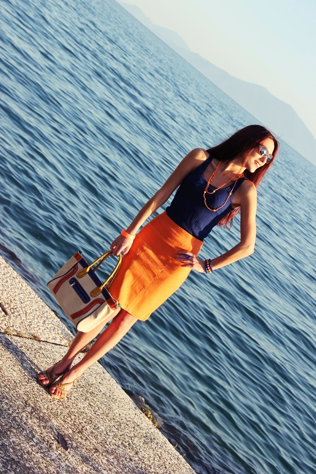 best orange and blue summer outfit combinations and ideas