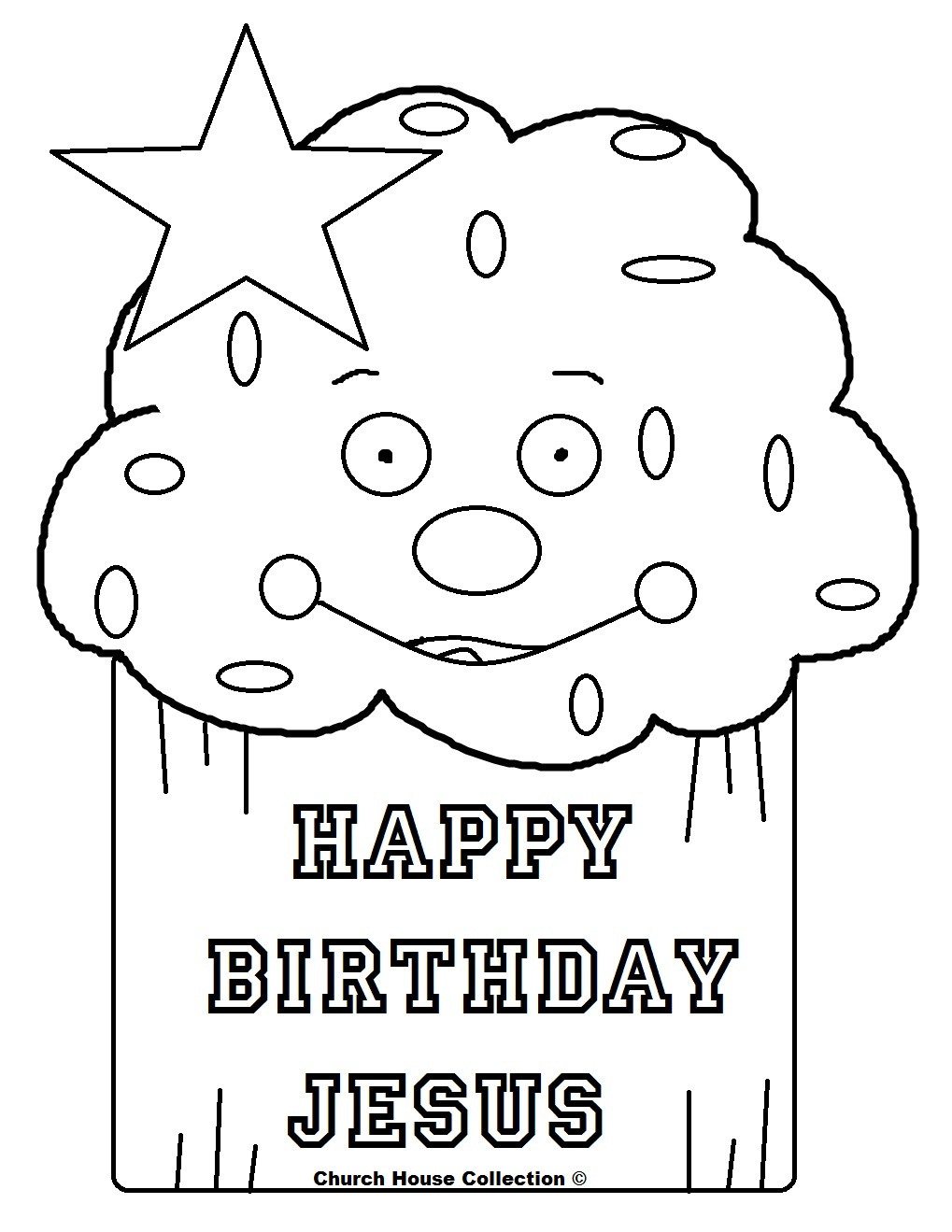 Happy Birthday Jesus Coloring Pages - Ronniebrownlifesystems