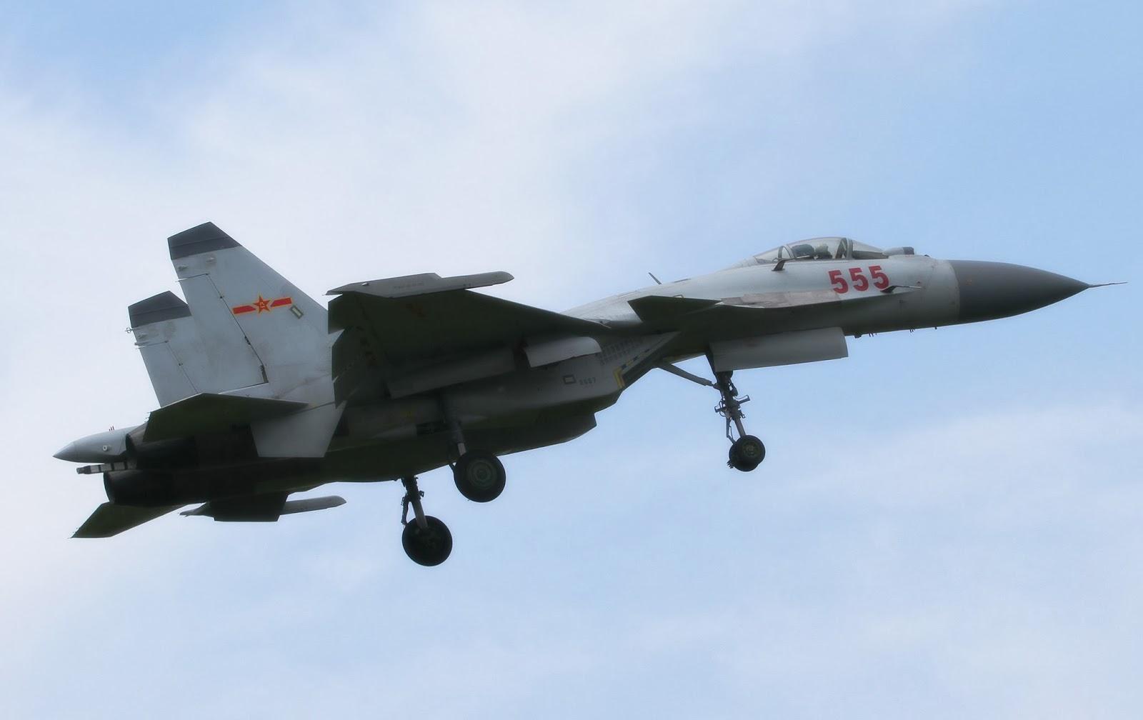 China's J-15 Flying Shark Carrier Borne Naval Fighter Jets
