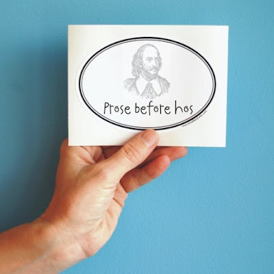prose before hos bumper sticker on Etsy | gift guide on Tomes and Tequila book blog