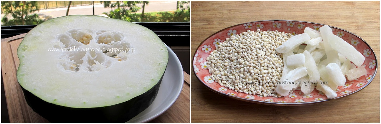 annielicious food winter melon with barley dessert. Black Bedroom Furniture Sets. Home Design Ideas