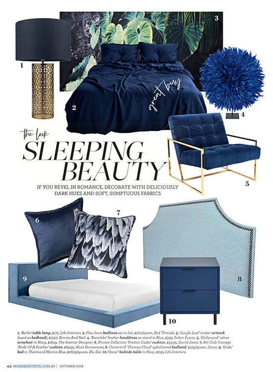 Safari Fusion blog | Sleeping Beauty | Australian Home Beautiful | October 2018