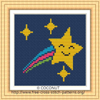 STAR (4), FREE AND EASY PRINTABLE CROSS STITCH PATTERN