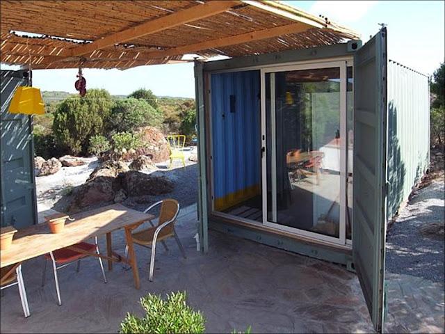 entrada Casa praia containers