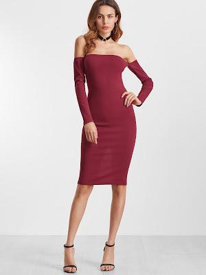 vestido rojo con zapatos