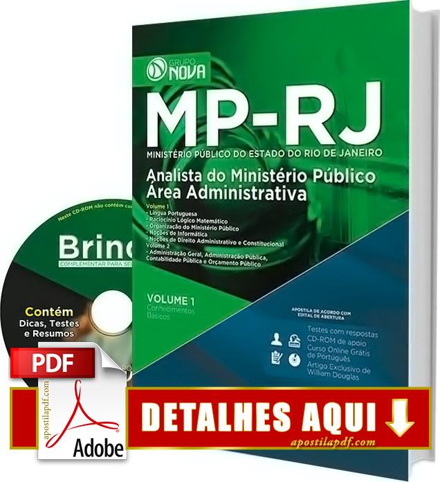 Apostila MP RJ 2016 Analista Administrativo Impressa