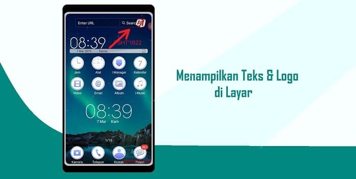 Cara Menampilkan Teks dan Logo Saat Merekam Layar di Android