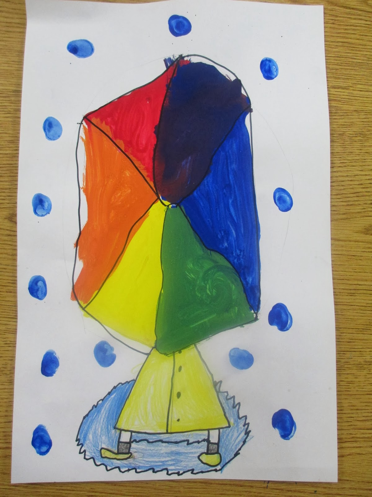Sabal Palm Artist Umbrella Color Wheels 2nd Grade