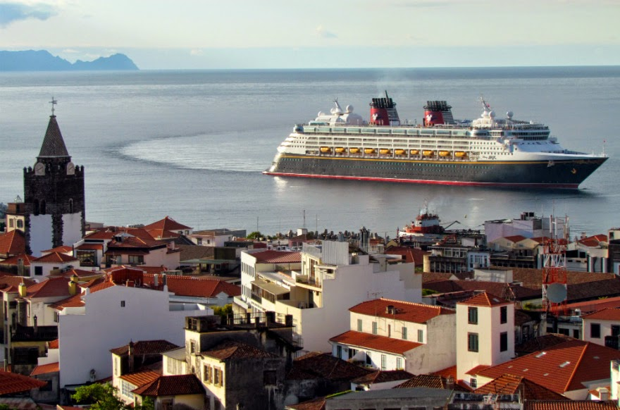 Disney Magic cruise ship arring today at Funchal port