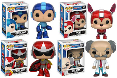 Mega Man Pop! Series Vinyl Figures by Funko - Mega Man, Rush, Proto Man & Dr. Wily
