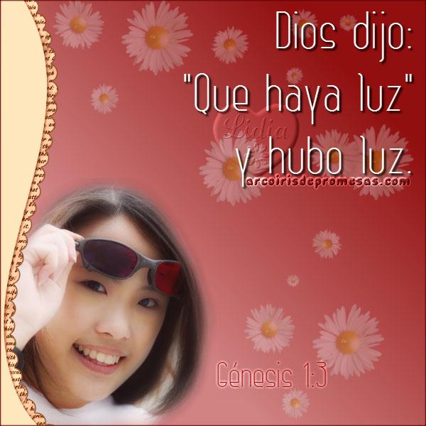 y dijo dios reflexiones bíblicas con imágenes arcoiris de promesas