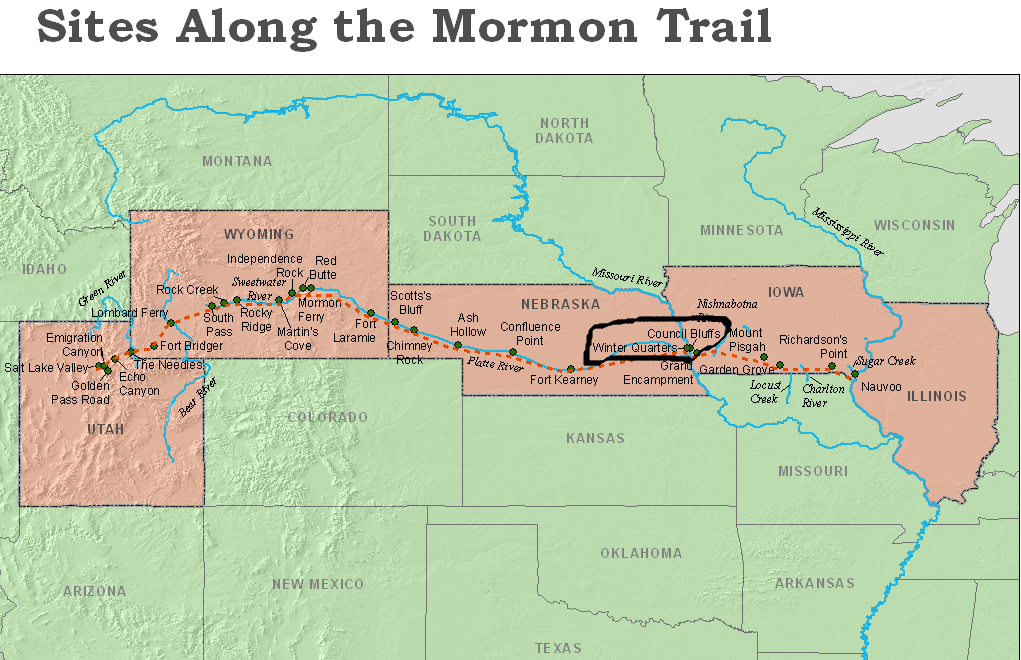 Map Of Arizona Lds Temples.Souvenir Chronicles Lds Church History Sites Kanesville Tabernacle