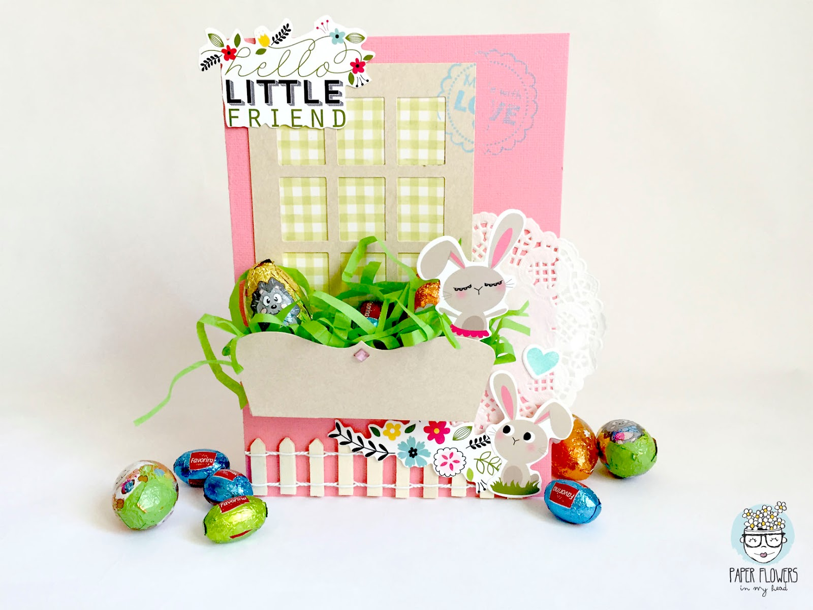 sizzix window box easter card