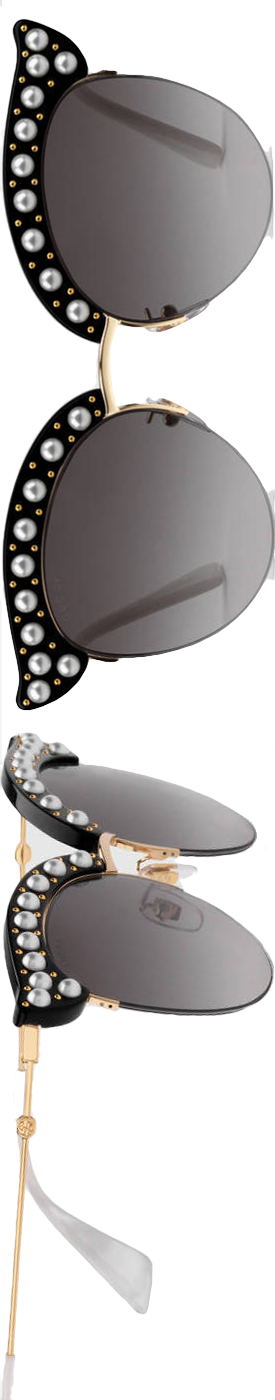 GUCCI  CAT EYE SUNGLASSES W/ IMITATION PEARLS