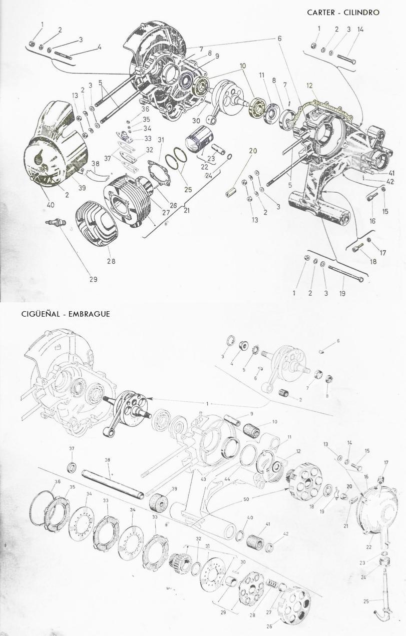 El garaje del mini clasico: REPARACION DEL MOTOR DE LA VESPA