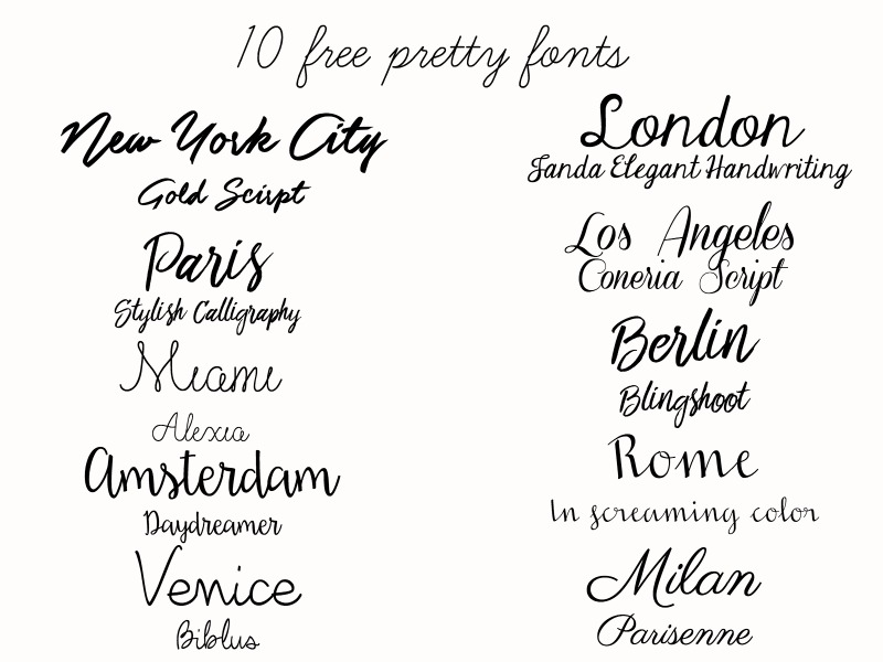 Blogging, Lifestyle, Ten Free Fonts, Pretty Free Fonts, free fonts, free fonts for design, pretty fonts, girly fonts, free fonts,