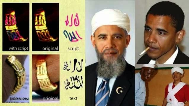 Ο Μουσουλμάνος Ομπάμα φοράει δαχτυλίδι με τη φράση:Δεν υπάρχει Θεός εκτός από τον Αλλάχ video έτσι εξηγούνται πολλά!