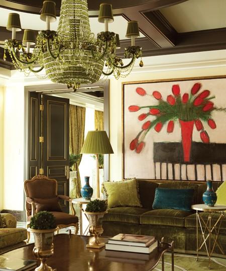 Eye For Design: Olive Green Interiors