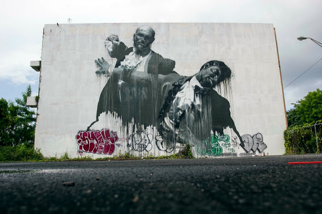 """San Juan Fight Club II"" Second New Mural By Irish Artist Conor Harrington For Los Muros Hablan In Puerto Rico. 1"