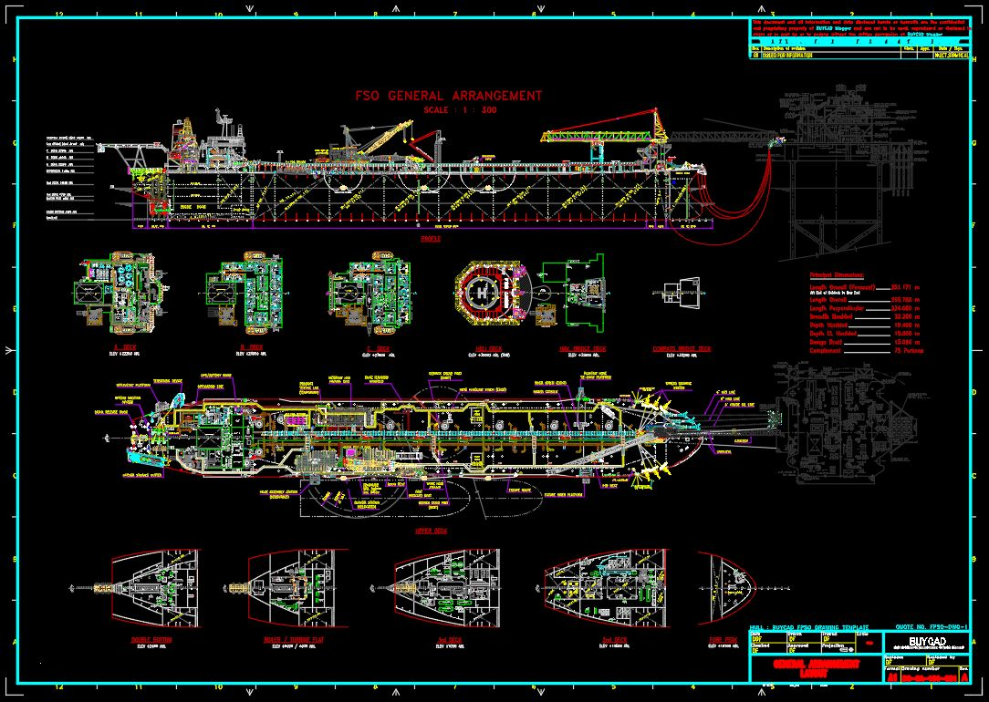 General Arrangement Fpso Drawing
