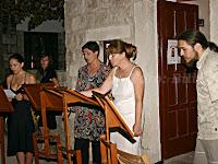 Gospodnetić singers, riva, Postira otok Brač slike