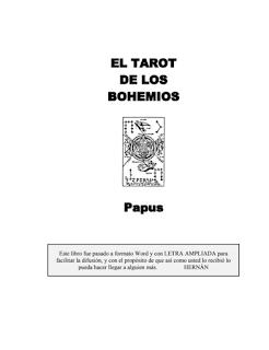 Descarga ebook pdf tarot gratis Papus El Tarot de los Bohemios