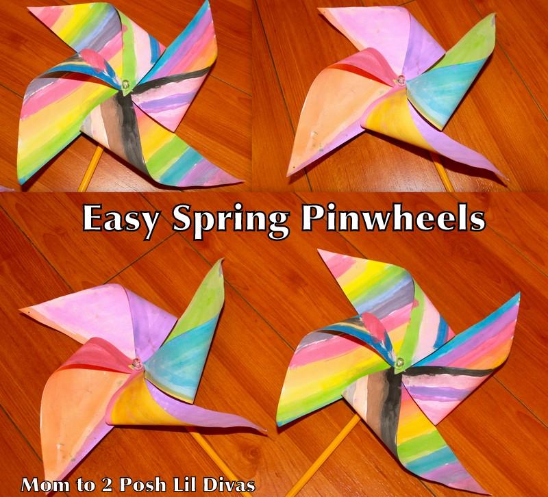 Mom To 2 Posh Lil Divas Spring Craft Easy Kid S Pinwheel