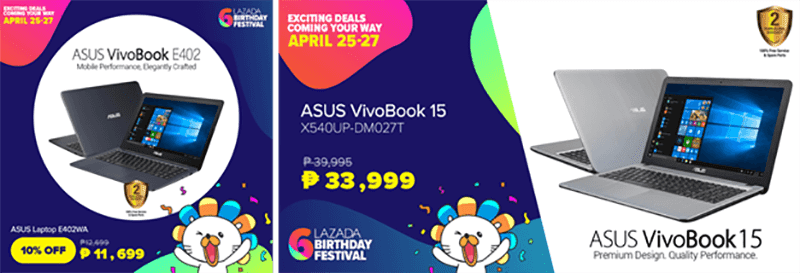 ASUS Store Lazada Sale Lineup