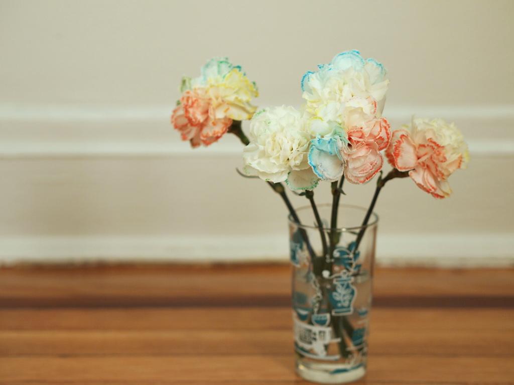 Make Your Own Rainbow Flowers Pink Stripey Socks