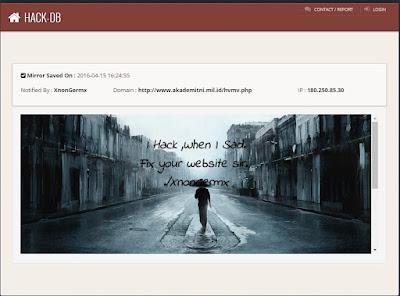 Website Resmi Akademi TNI diretas