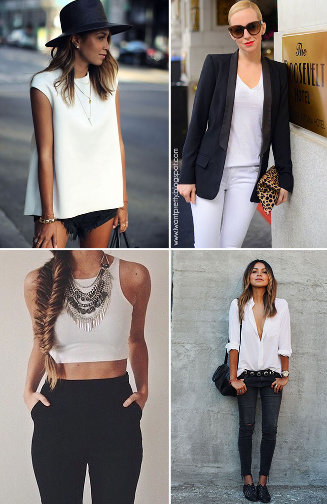 I want pretty LOOK-Outfits en blanco y negro para Primavera/Verano!