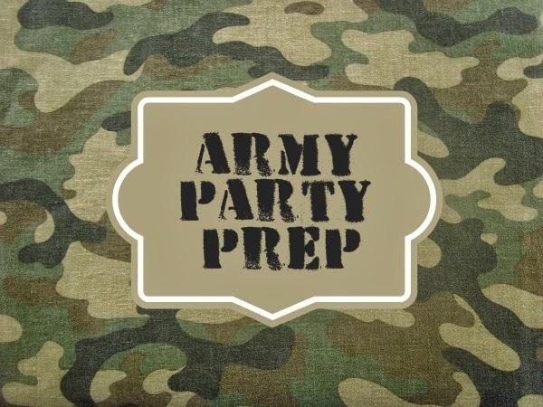 Army Party Prep Stencil Tutorial Free Printables