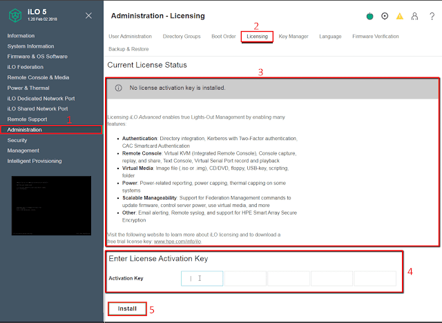 Hewlett-Packard: Instalar Licencia avanzada en una tarjeta ILO 5.