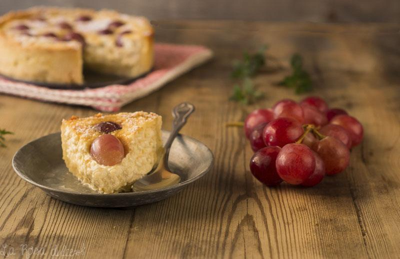 Costrata de requesón y uvas | sin lactosa | la Rosa dulce