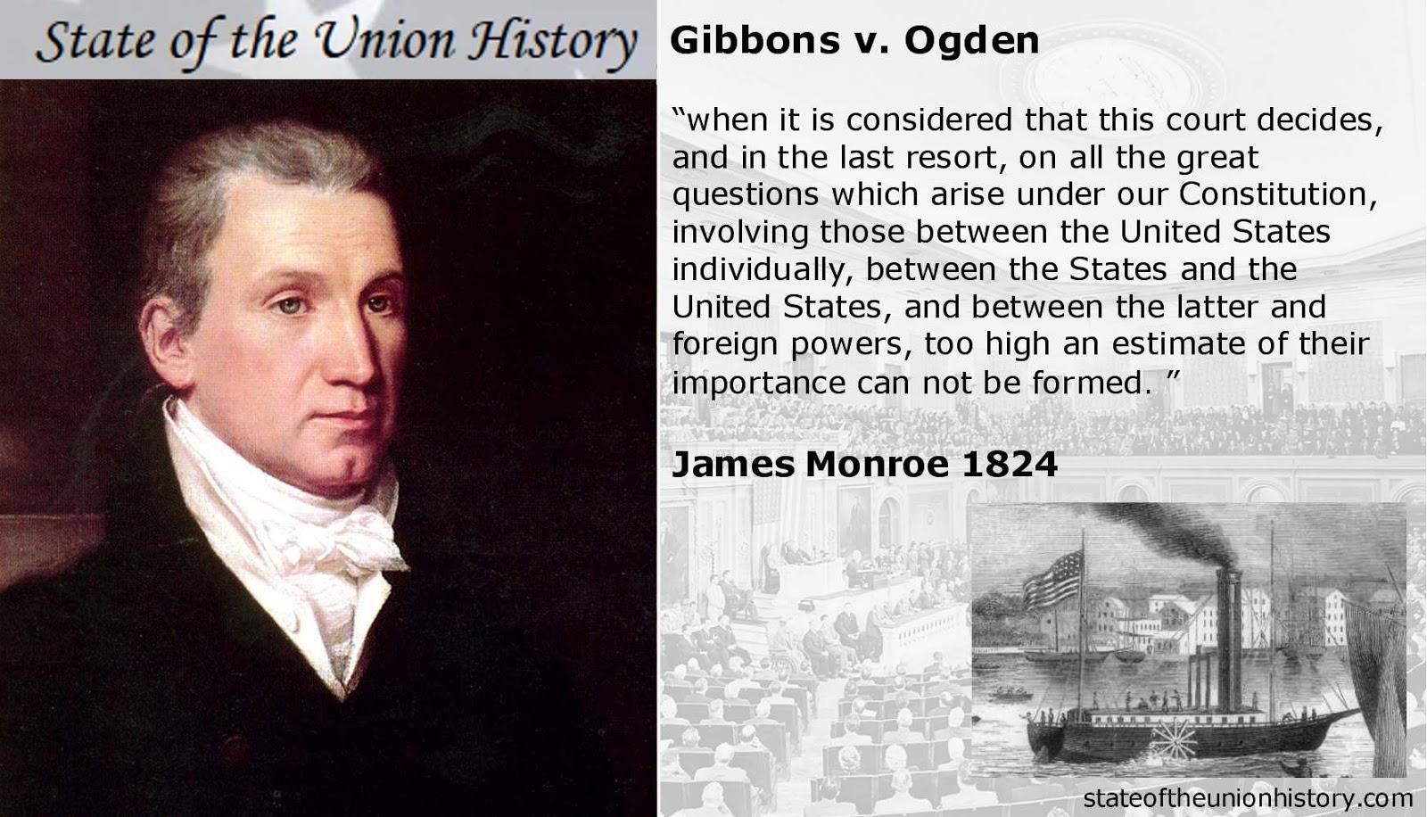 gibbons v ogden Case opinion for us supreme court gibbons v ogden read the court's full decision on findlaw.