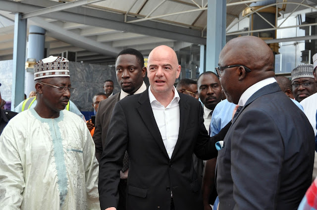 FIFA President Infatino, Secretary-General Samoura Arrives In Nigeria