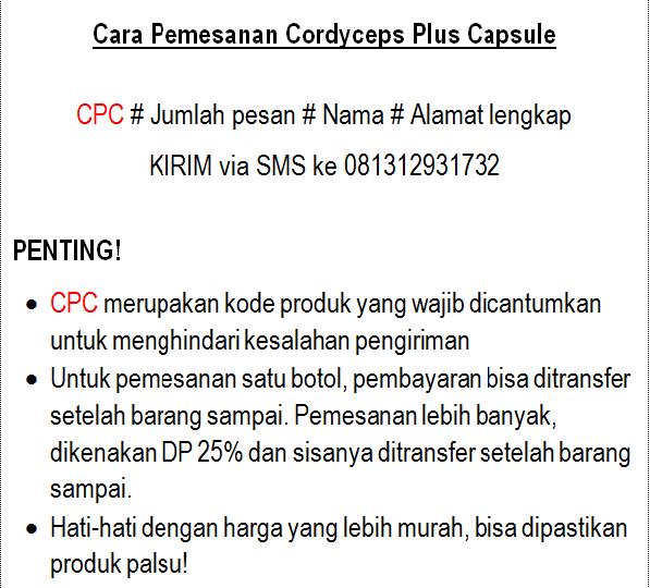 cara pesan cordyceps plus capsule asli