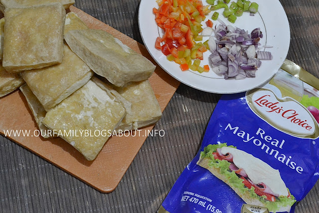 sizzling tofu, tokwa recipe, vegan recipe, Lady's Choice Real Mayonnaise