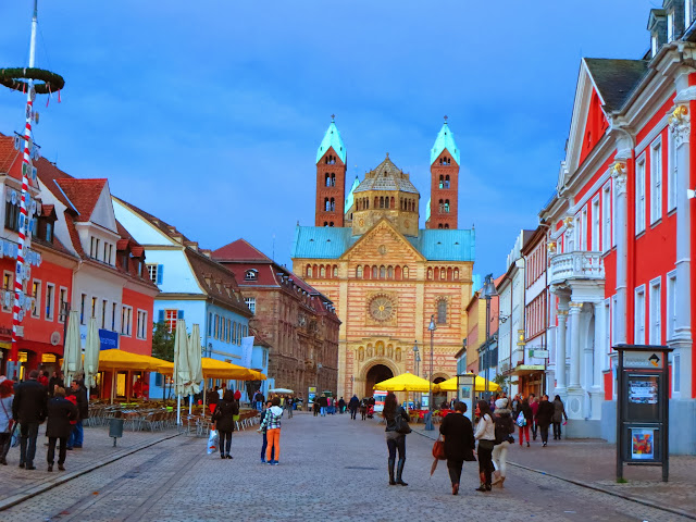 View of Speyer Cathedral on a day trip to Speyer Germany