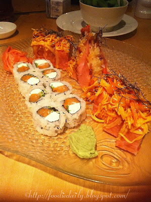 Angry Dragon Roll and Philadelphia Roll Sushi