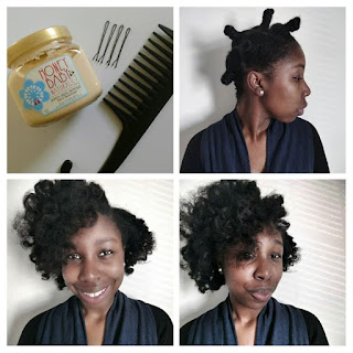 Bantu knot out using Honey Baby Naturals - ClassyCurlies