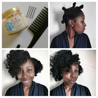 Bantu knot out using Honey Baby Naturals - ClassyCurlies