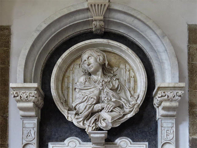 Burial monument of Anne de la Pierre, by Félicie de Fauveau, Santa Maria del Carmine, Florence